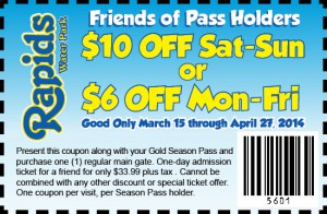 Massanutten water park discount coupon